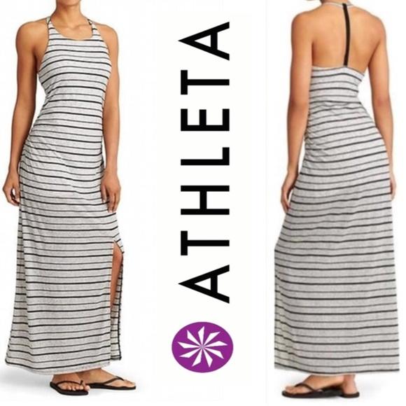 80e3920d86 Athleta Dresses | Stripe Serenity Maxi Dress | Poshmark
